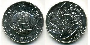 5000 Lira Italy Silver