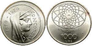 1000 Lira Italia Argento