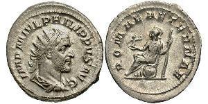 1 Antoniniano Imperio romano (27BC-395) Plata Felipe I (204-249)