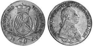20 Kreuzer Électorat de Bavière (1623 - 1806) Argent