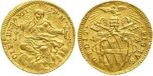 1 Zecchino Папська держава (752-1870) Золото Климент XII (1652 - 1740)
