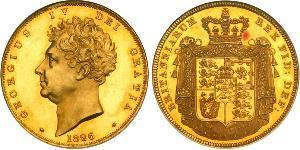 5 Pound Regno Unito di Gran Bretagna e Irlanda (1801-1922) Oro Giorgio IV (1762-1830)