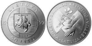 50 Лит Литва (1991 - ) Серебро