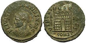 1 Follis /  AE3 Weströmisches Reich (285-476) Bronze Constantius II(317 - 361)