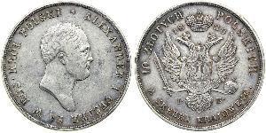 10 Zloty 波蘭會議王國 (1815 - 1915) 銀 亚历山大一世 (俄国)  (1777-1825)