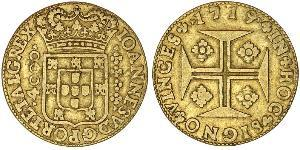 4000 Reis Regno del Portogallo (1139-1910) Oro Giovanni V del Portogallo (1689-1750)