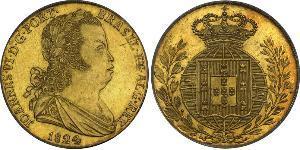 4 Escudo Royaume de Portugal (1139-1910) Or Jean VI de Portugal (1767-1826)