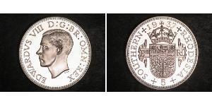 5 Shilling Southern Rhodesia (1923-1980) Argento Edoardo VIII (1894-1972)