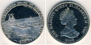 1 Krone 特里斯坦-达库尼亚 镍/銅 伊丽莎白二世 (1926-)