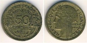 50 Sent French Third Republic (1870-1940)  Bronze