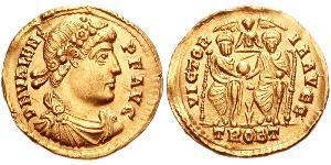 Solidus 拜占庭帝国 金 瓦伦斯
