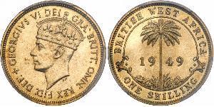 1 Shilling British West Africa (1780 - 1960) Brass George VI (1895-1952)