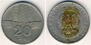 20 Zloty République populaire de Pologne (1952-1990)