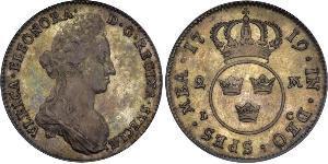 4 Марка Швеція Срібло Ulrika Eleonora, Queen of Sweden (1688 - 1741)