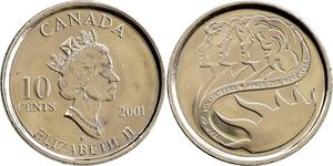 10 Cent Kanada Nickel Elizabeth II (1926-)