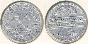 50 Пфеніг Веймарська республіка (1918-1933) Алюміній