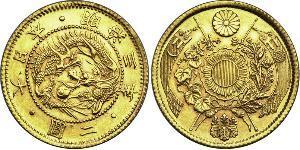 2 Yen Empire of Japan (1868-1947) Gold Meiji the Great (1852 - 1912)