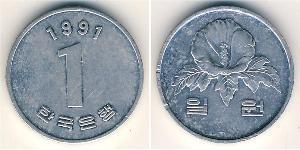1 Won Corea del Sud Alluminio