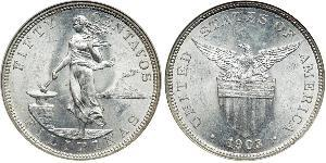 50 Centavo Philippinen Silber