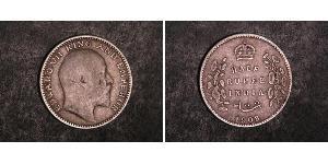 1/2 Rupee Britisch-Indien (1858-1947) Silber Eduard VII (1841-1910)