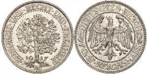 5 Mark Weimar Republic (1918-1933) / Germany Silver