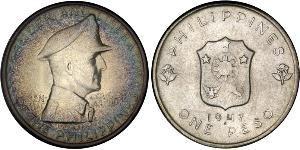 1 Peso Philippinen Silber Douglas MacArthur (1880 - 1964)