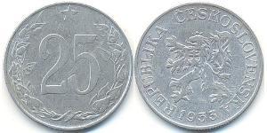 25 Heller Checoslovaquia  (1918-1992) Aluminio