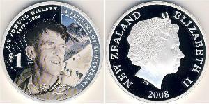 1 Dollar Nouvelle-Zélande Argent