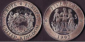 5 Ecu Regno Unito (1922-)