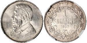 1 Shilling Sudáfrica Plata Paul Kruger (1825 - 1904)