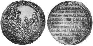 1 Талер Бавария (курфюршество) (1623 - 1806) Серебро Фердинанд Мария (курфюрст Баварии)(1636 – 1679)