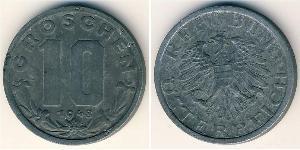 10 Grosh Besetztes Nachkriegsösterreich Zink