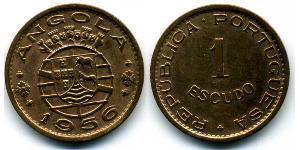 1 Escudo Portuguese Angola (1575-1975) / Portugal Bronze
