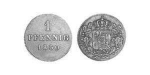 1 Pfennig Kingdom of Bavaria (1806 - 1918) Copper Maximilian II of Bavaria (1811 - 1864)