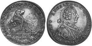 1 Thaler Anhalt-Köthen (1603 -1853) Argent Auguste-Louis d