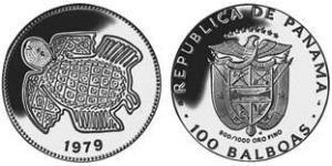 100 Balboa Panamá Oro