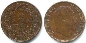 1/12 Анна Британская Индия (1858-1947) Медь