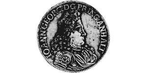 2/3 Талер Ангальт-Дессау (1603 -1863) / Анхальт (1806 - 1918) Срібло John George II, Prince of Anhalt-Dessau (1627 – 1693)