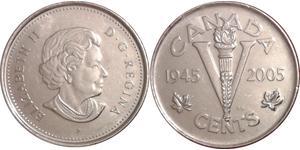 5 Цент Канада Никель Елизавета II (1926-)