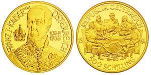 500 Shilling Republic of Austria (1955 - ) Gold