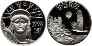 50 Dollar Vereinigten Staaten von Amerika (1776 - ) Platin