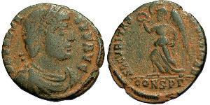 1 Follis /  AE3 Empire byzantin (330-1453) Bronze Valens (328-378)