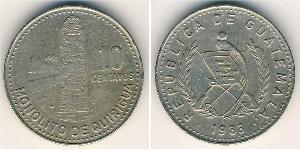 10 Centavo República de Guatemala (1838 - ) Kupfer/Nickel
