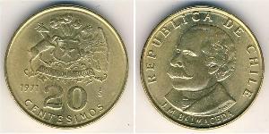 20 Centesimo Chile Messing