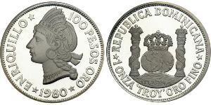 100 Peso República Dominicana Plata