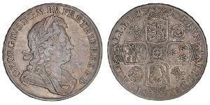 1 Crown Königreich Großbritannien (1707-1801) Silber Georg I (1660-1727)