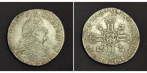 1/2 Ecu Kingdom of France (843-1791) Silver Louis XIV (1638-1715)