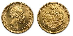 1 Крона United Kingdoms of Sweden and Norway (1814-1905) Золото Оскар II (1829-1907)