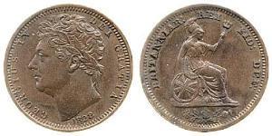 1/2 Farthing 大不列颠及爱尔兰联合王国 (1801 - 1922) 銅 喬治四世 (1762-1830)
