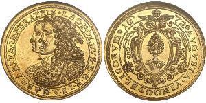 2 Дукат Аугсбург (1276 - 1803) Золото Леопольд I Габсбург(1640-1705)